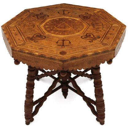 An Inlaid Table Attributed to Lansing, KS Inmate William Payne Harvey