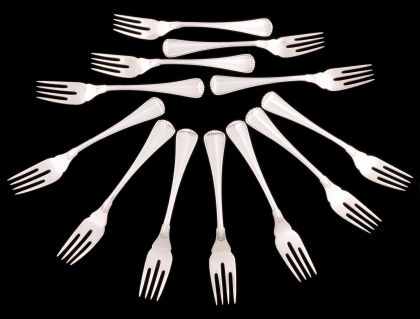 Buccellati and Seven Other Sterling Flatware Sets