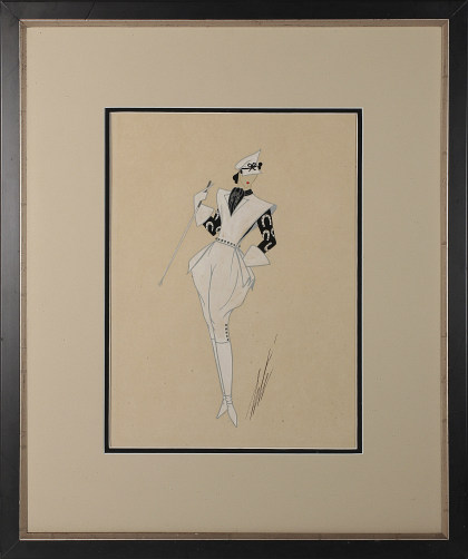 Erte Romain de Tirtoff (1892‑1990) Original Gouache Illustration