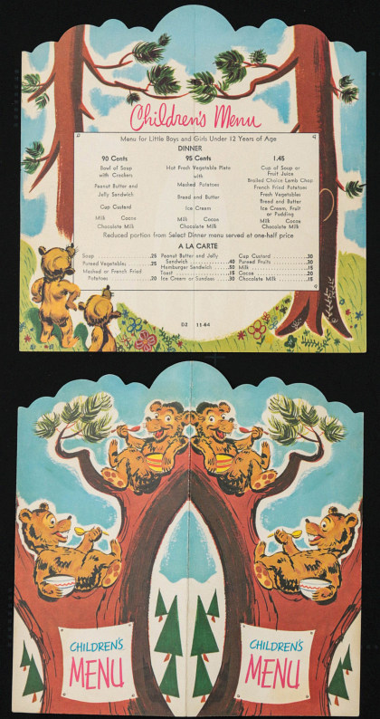 A Large Collection of Menus, Timetables and Ephemera