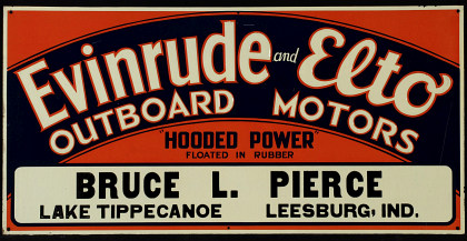A 1930s Evinrude Motors Tin Sign, Grade 9++