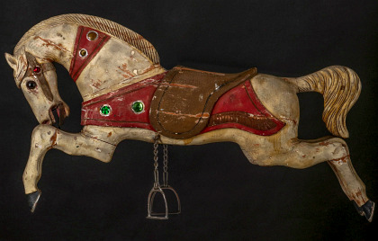 One of Two Parker Carousel Horses in Original Paint