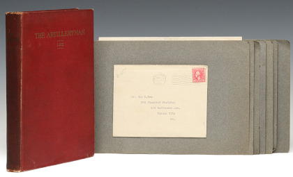 THE ARTILLERY MAN, Spencer 1st Edition, 1920 with Archive of Signed Letters from Capt. Harry S. Truman 1921, General Pershing, Calvin Coolidge and Others