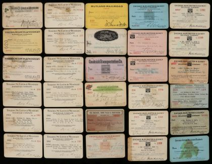 Lot 7988A Collection of More Than 600 Railroad Passes
