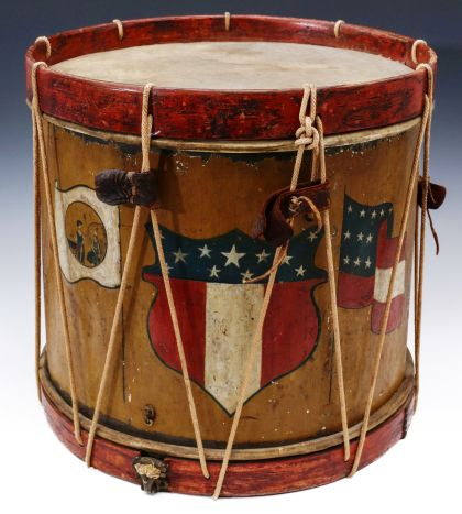 Civil War Drum with Confederate Flags
