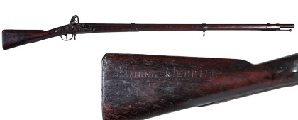 U.S. Model 1808 Musket by T. French, Inscribed Samuel Merrill on the Stock and Attributed to the Mormon Pioneer of the Same Name