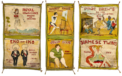 Miniature Painted Sideshow Banners