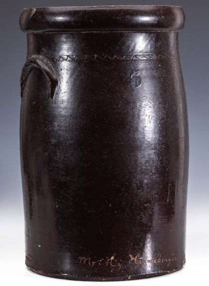 An Inscribed and Decorated Churn Stamped Edwards and Minish, Calhoun Missouri