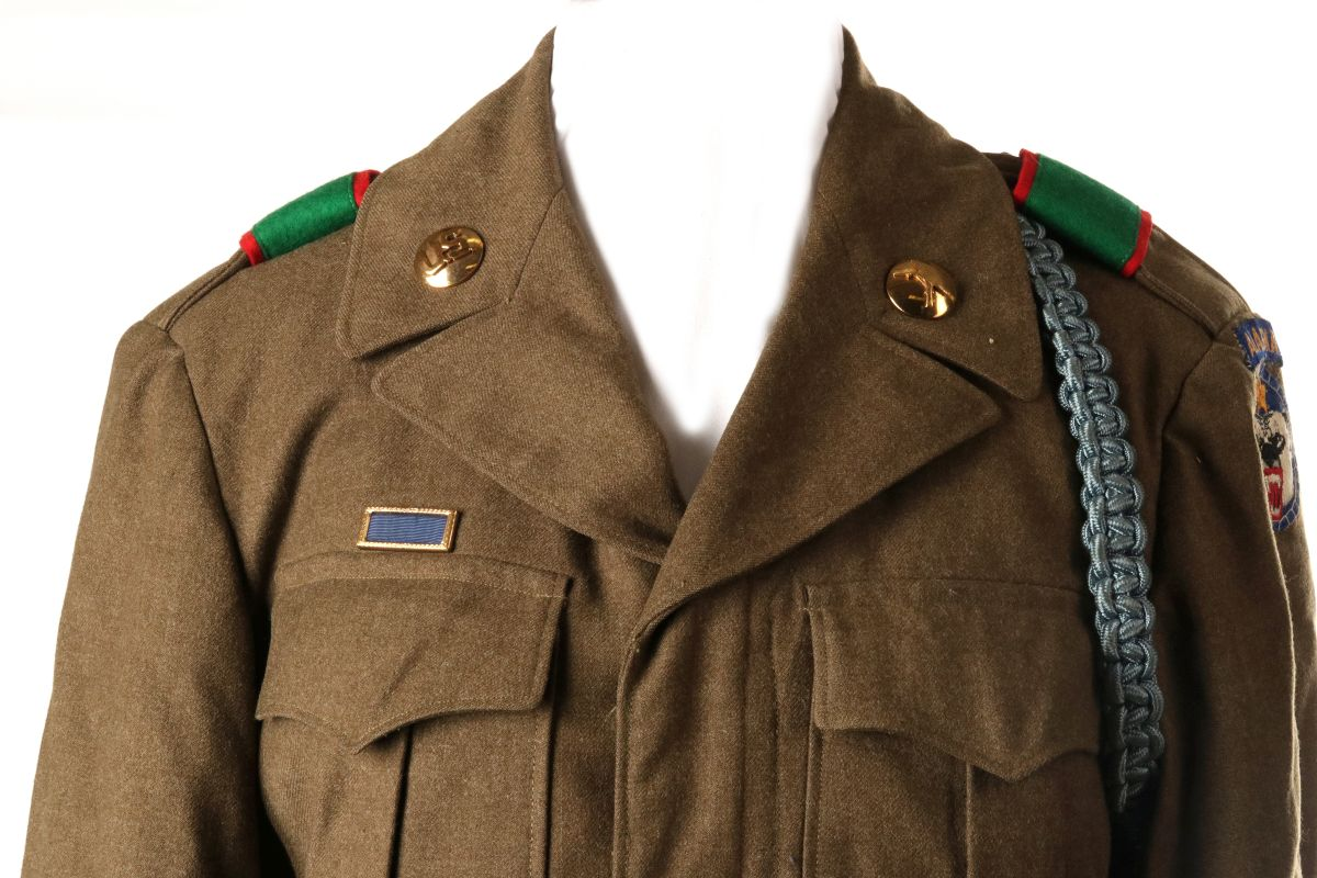 WWII US UNIFORM LOT ARMY AND MARINE CORPS