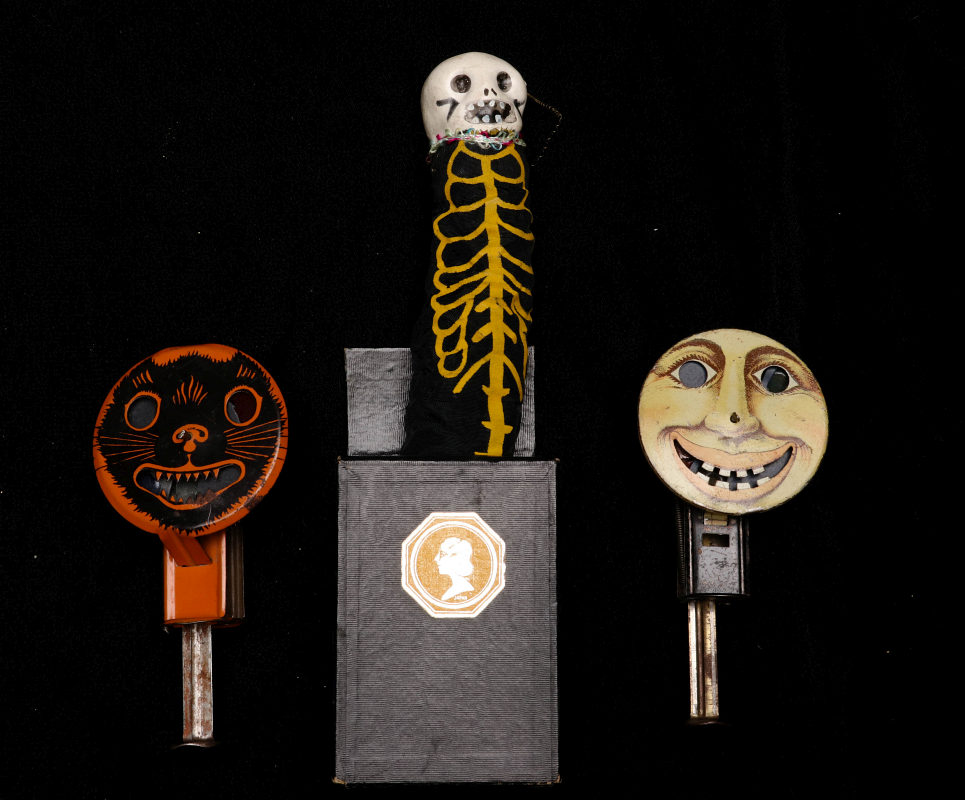 278 vintage halloween noisemakers and pop out gag
