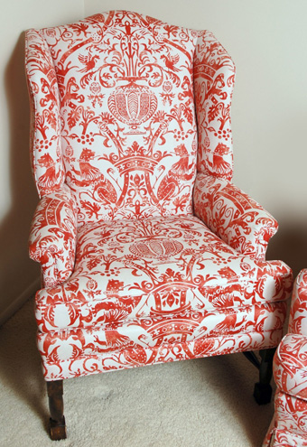 Fortuny Type Wing Back Chair