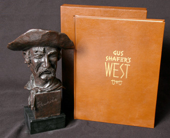 L.E. Gus Shafer 'Rawhide' Bronze and Book