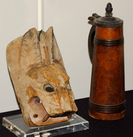 wooden dingo and tankard