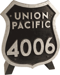 Union Pacific Engine Plate