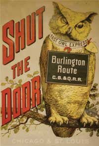 Burlington Route poster