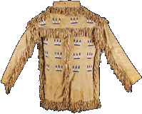 Beaded hide shirt