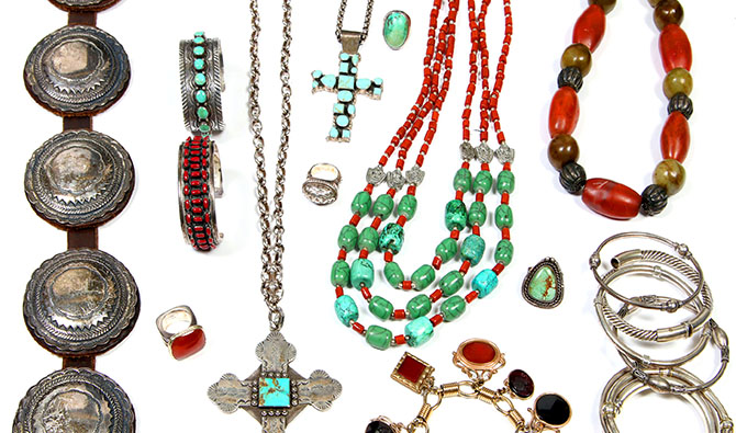 Sterling, Turquoise, Semi-Precious and More Jewelry.