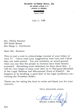Martin Luther King Jr. and Others, Important Signed Historic Letters