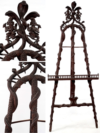 Intricately Carved Easel
