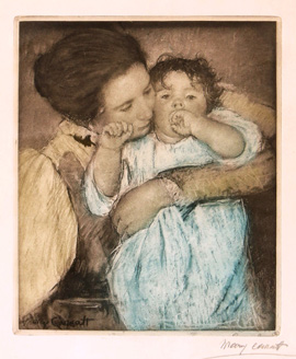 Mary Cassatt (1844-1926) Pencil-Signed Etching