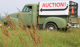 Look for the truck on auction day